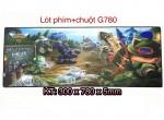 BÀN DI PHÍM + CHUỘT LỚN GAME G780 DÀY 5MM