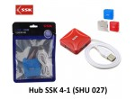 HUB USB 2.0 SSK shu027 - 4PORT