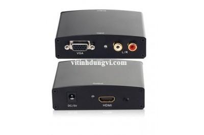 BOX VGA R/L TO HDMI (hộp sắt tốt)