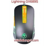 CHUỘT LIGHTNING LED GX689S - ĐEN (LED LOGO)