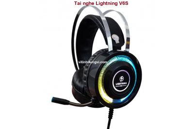 Tai nghe Lightning V6S 3.5ly led RGB