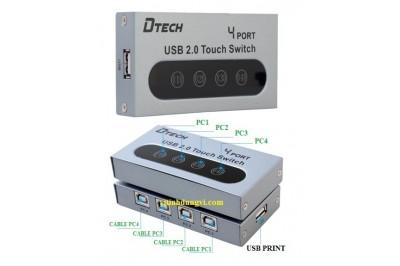 DATA SWITCH USB IN HiỆU DTECH  - 04PORT