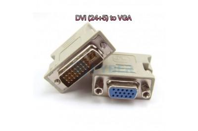 ĐẦU DVI (24+5) CHUYỂN SANG VGA ĐẦU CÁI